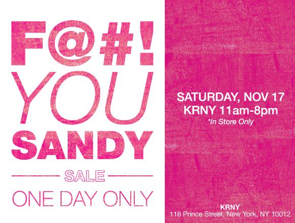 F@#! You Sandy Sale