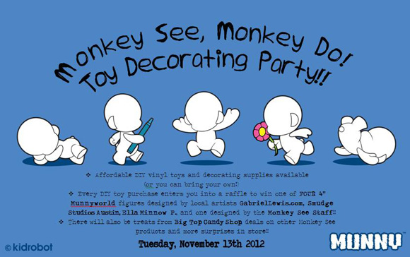 Monkey See Monkey Do Toy Decorating Party
