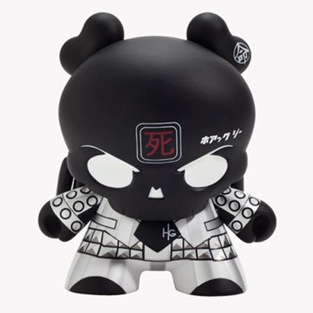 "Back in Black ◆Skullhead 8/"" Dunny Huck Gee X Kidrobot vinyl figure RARE"