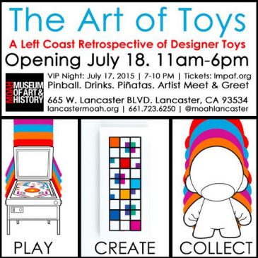 The Art Of Toys exhibition opens this weekend!