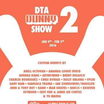 KIDROBOT AND CLUTTER MAGAZINE ANNOUNCE THE SECOND ANNUAL DTA DUNNY SHOW