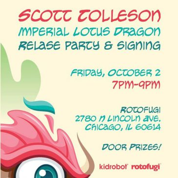 Kidrobot and Scott Tolleson Announce Imperial Lotus Dragon Release and Signing