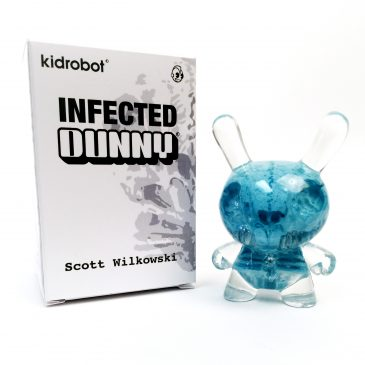 Now Available from Kidrobot: Cryogenic Blue Infected Dunny by Scott Wilkowski