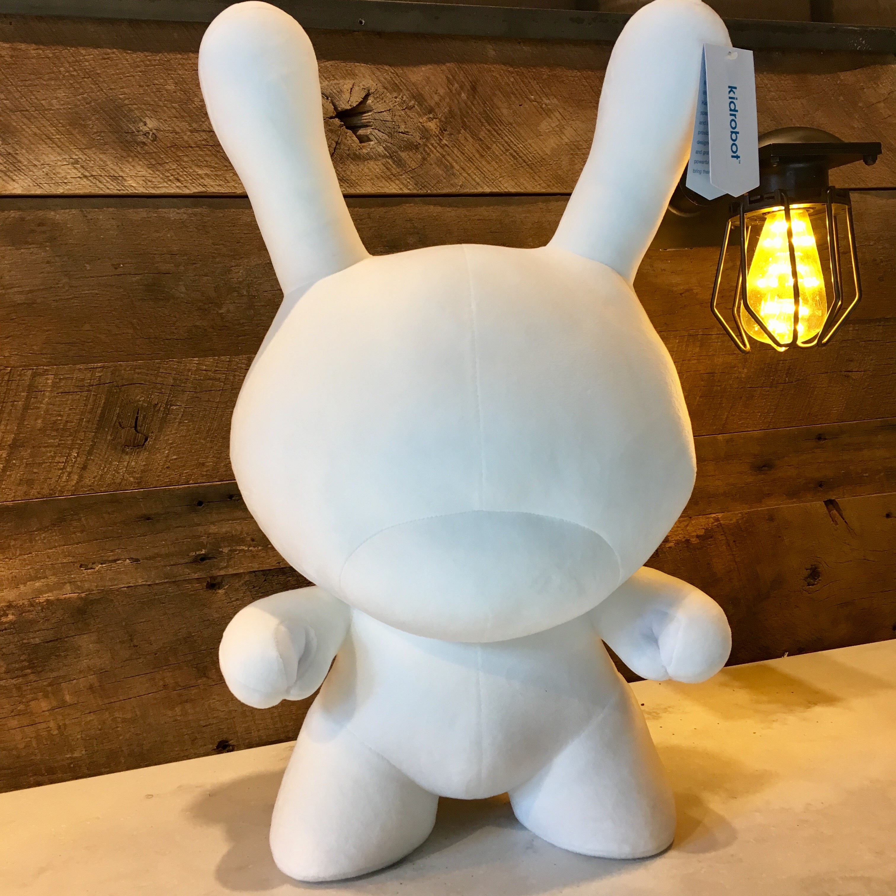 20 Inch White Dunny Plush