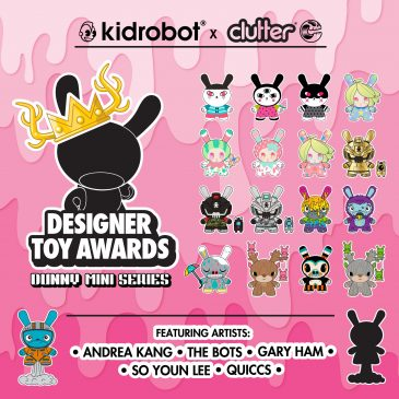 Clutter Magazine & Kidrobot Proud To Announce the DTA Dunny Mini Series!