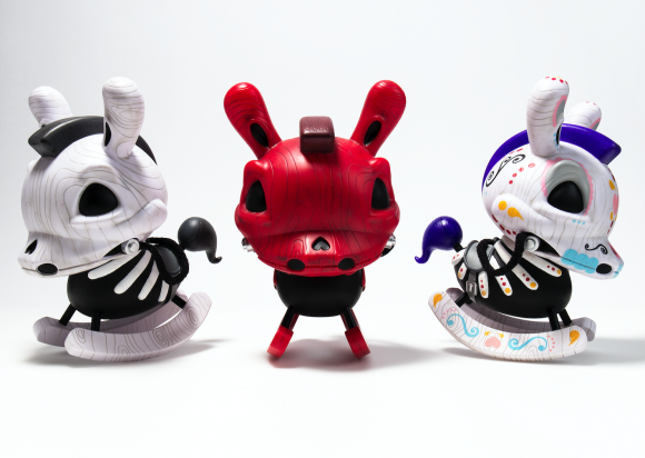 Kidrobot Death of Innocence Rocking Horse Dunny by Igor Ventura - Three Colors