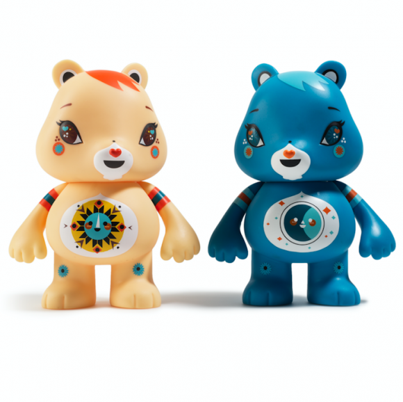 Kidrobot x Care Bears Funshine and Bedtime Bear byJulie West
