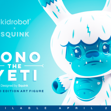 Kono The Yeti 8″ Dunny By Squink Online Now!