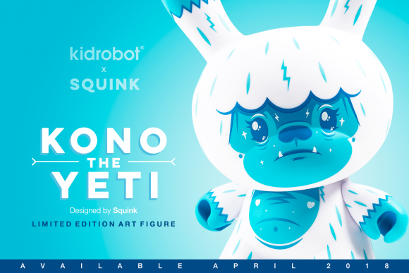"Kidrobot x Kono the Yeti by Squink 8"" Dunny"