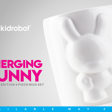 Kidrobot's Limited Edition Emerging Dunny 4-Piece Mug Set