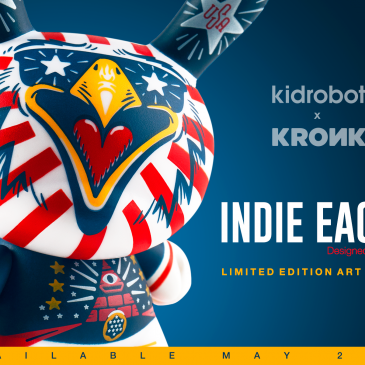 Kidrobot's 3″ Indie Eagle Dunny by KRONK