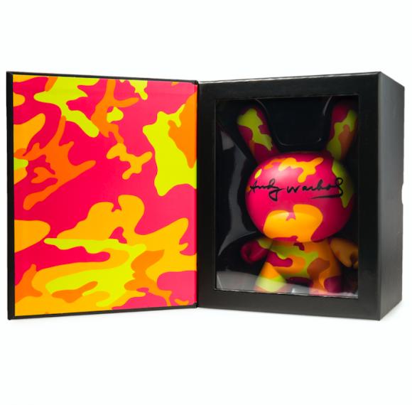 Kidrobot x Andy Warhol Masterpiece Camo Dunny