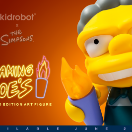 Kidrobot x The Simpsons Flaming Moe's Art Figure