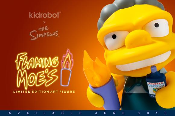 Kidrobot x The Simpsons Flaming Moe's Art Figure