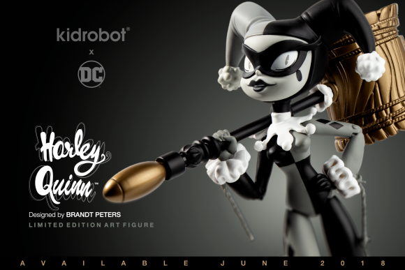 Kidrobot.com Exclusive DC Comics x Kidrobot Grayscale Harley Quinn Art Figure by Brandt Peters