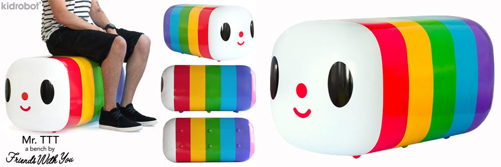 Mr TTT Rainbow Bench by Kidrobot and Friends With You - LGBTQ Pride