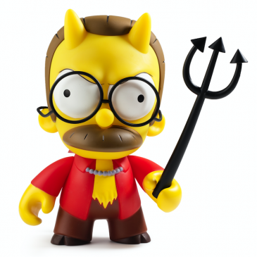 Thursday Throwback: The Simpsons Devil Flanders Art Figure