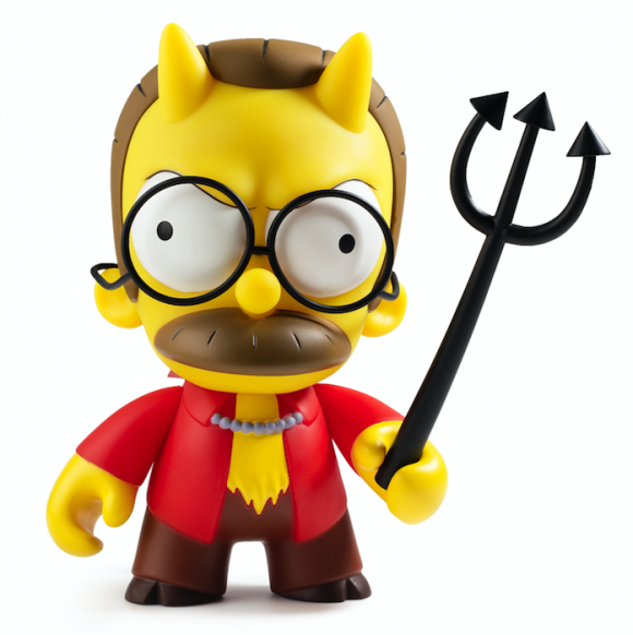 Kidrobot x The Simpsons Devil Flanders