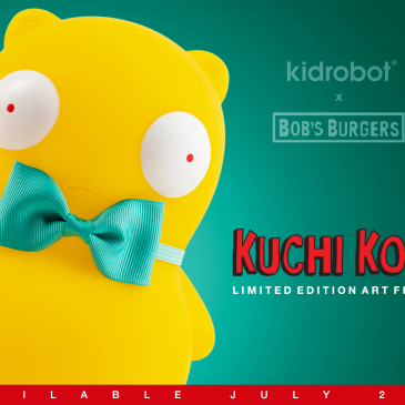 The Kidrobot x Bob's Burgers GID Kuchi Kopi Medium Art Figure Online Now!