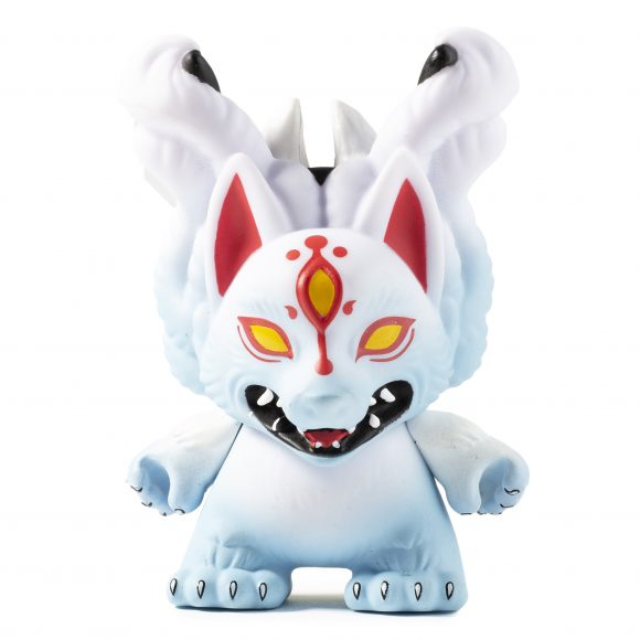 Kidrobot x City Cryptid Dunny Art Mini Series Kitsune Dunny by Candie Bolton