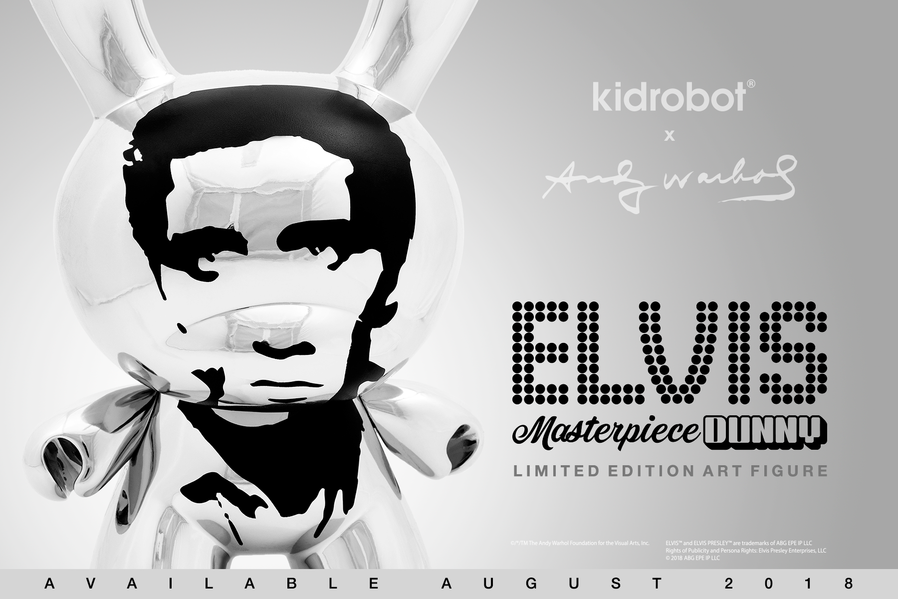 Kidrobot x Andy Warhol Masterpiece Elvis Dunny 8""