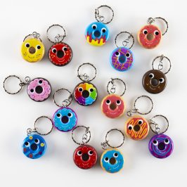 Kidrobot x Yummy World Attack of the Donuts Keychains