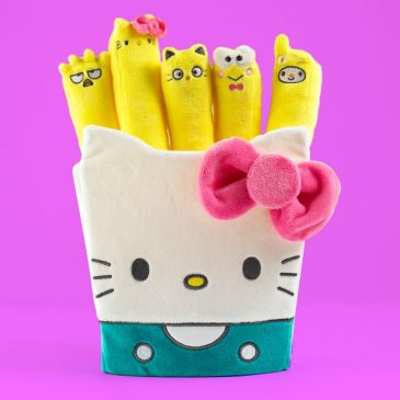 Kidrobot x Sanrio Hello Kitty Plush Fries & Sanrio Burger Plush Charms Online Now!