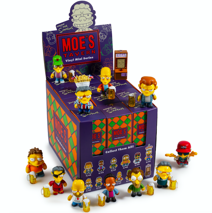 Kidrobot x The SImpsons Moe's Tavern Vinyl Art Mini Series
