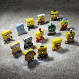 Kidrobot x Nickelodeon Many Faces of Spongebob vinyl Art Mini Series