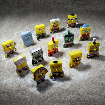 Kidrobot x Nickelodeon Many Faces of Spongebob Vinyl Mini Series Available Online Now!
