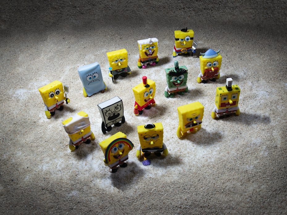 Kidrobot x Nickelodeon Many Faces of Spongebob vinyl Art Mini Series