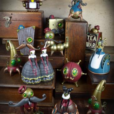 Kidrobot X The Mechtorians Mini Art Figure Series by Dok A Online Now!