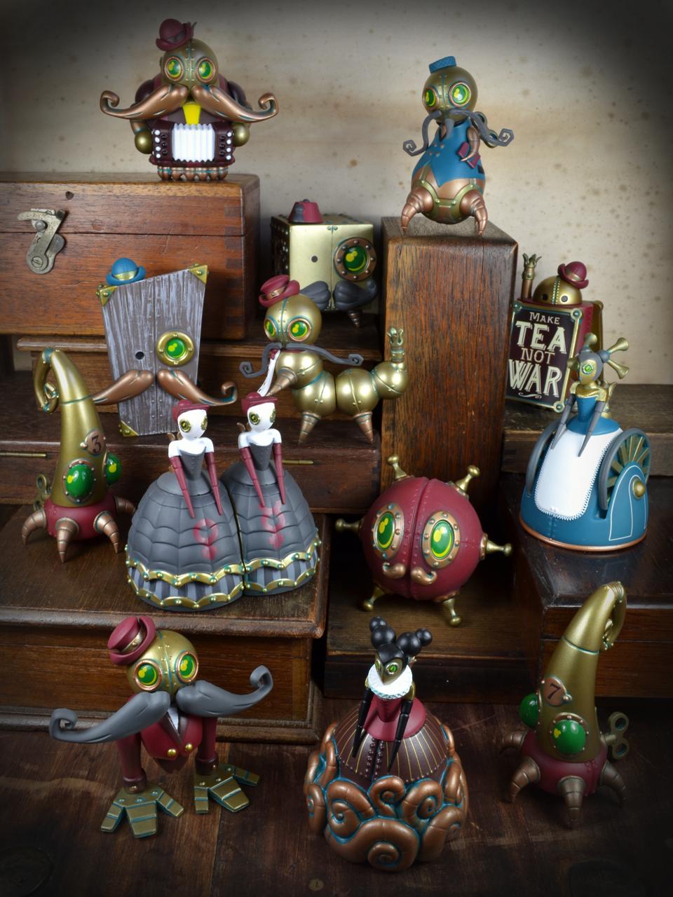 Kidrobot x Dok A Mechtorians Vinyl Art Mini Series