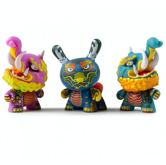 kidrobot Kaiju Dunny Battle Series Vinyl Mini Figures Kirin NEW