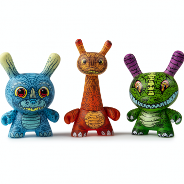 Kidrobot x Clutter Kaiju Dunny Battle Mini Series: James Groman