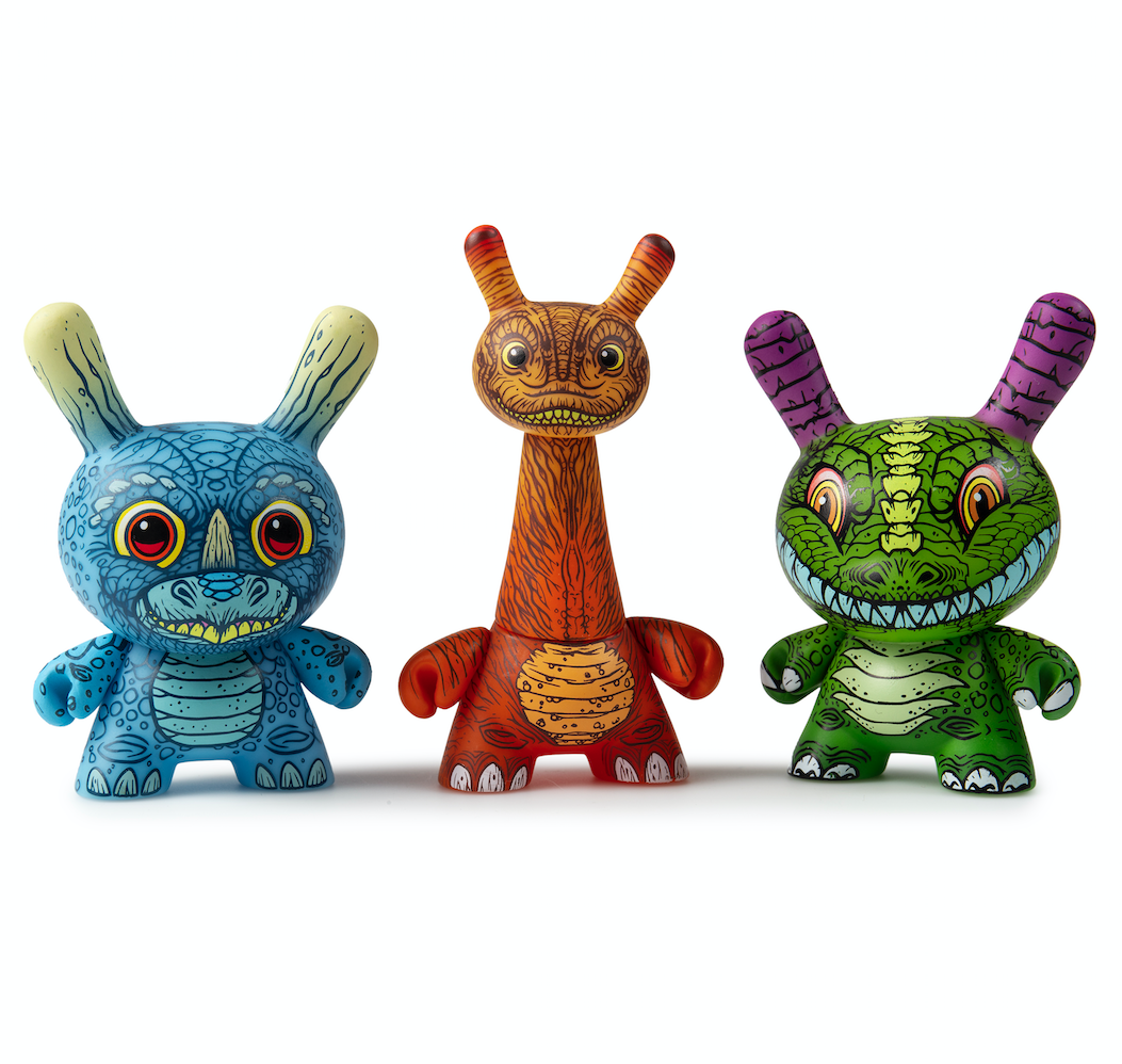 Kidrobot x Clutter Kaiju Dunny mini series James groman
