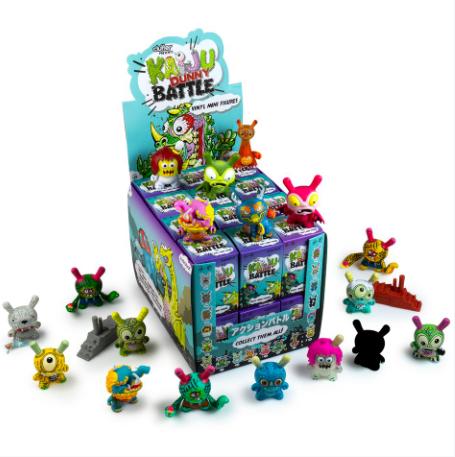 Kidrobot x Clutter Kaiju Dunny Battle Min Series