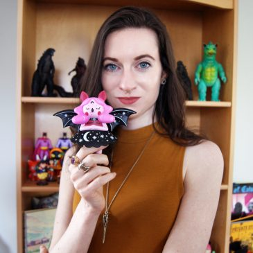 Midnight Moon Bat by Nightly Made: Get to know artist Megan O'Brien before her Vinyl Art Toy Debut