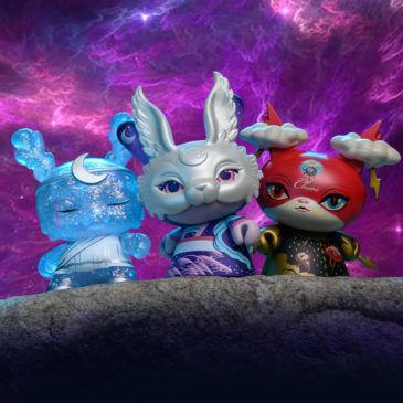 Meet the Cosmic Goddesses of the Spiritus Dea 3-inch Dunny mini-series. Part One: Cosmos