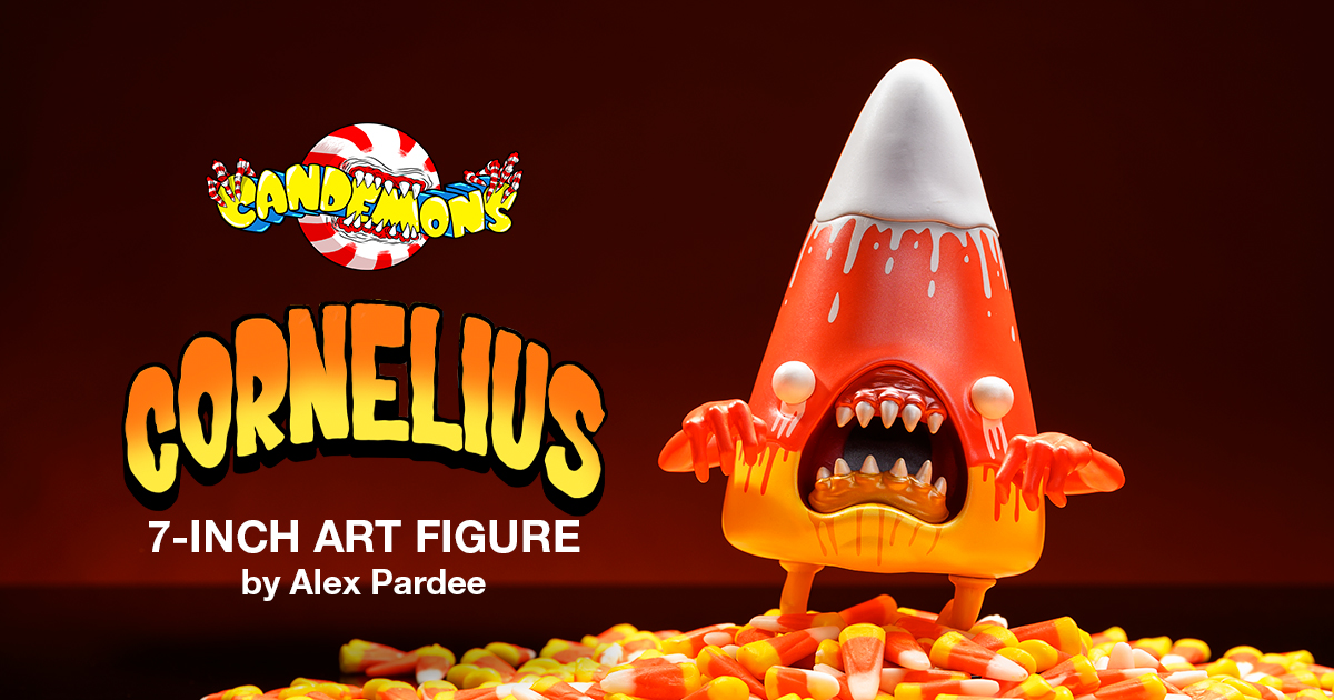 Kidrobot.com Exclusive Candy Cornelius Candemon Art Figure by Alex Pardee - Melty Metallic Edition