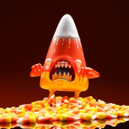 Kidrobot.com Exclusive Candy Cornelious Candy Corn Art Figure by Alex Pardee