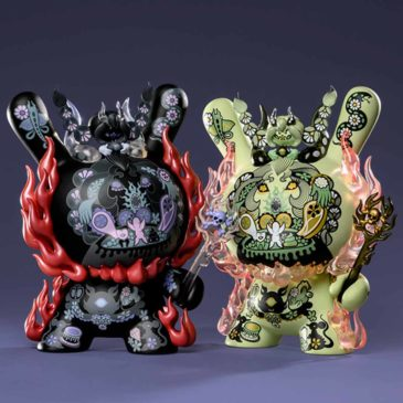 "Introducing ""La Flamme,"" the new 8″ Dunny by Junko Mizuno"