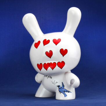 "ALL WE NEED IS LOVE & WARHOL:  Andy Warhol 8″ Masterpiece ""I Love You So"" Dunny Drop"