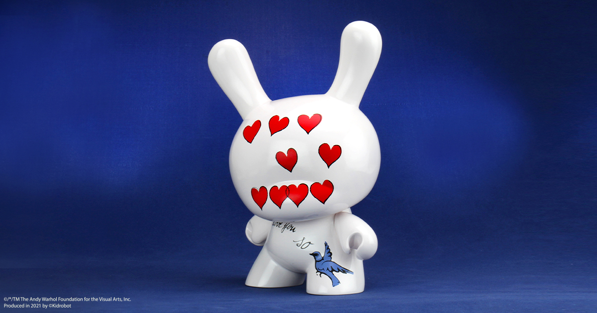 "ANDY WARHOL 8"" MASTERPIECE ""I LOVE YOU SO"" DUNNY"
