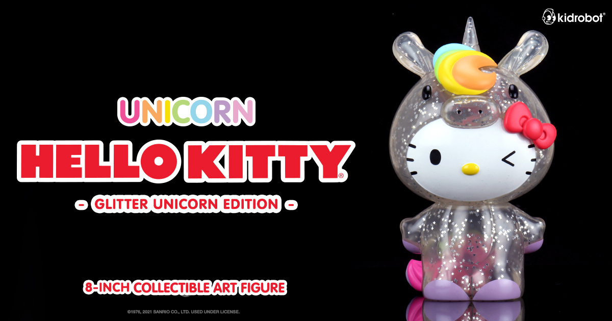 "Hello Kitty Unicorn 8"" Art Figure - Kidrobot.com Exclusive Glitter Edition"