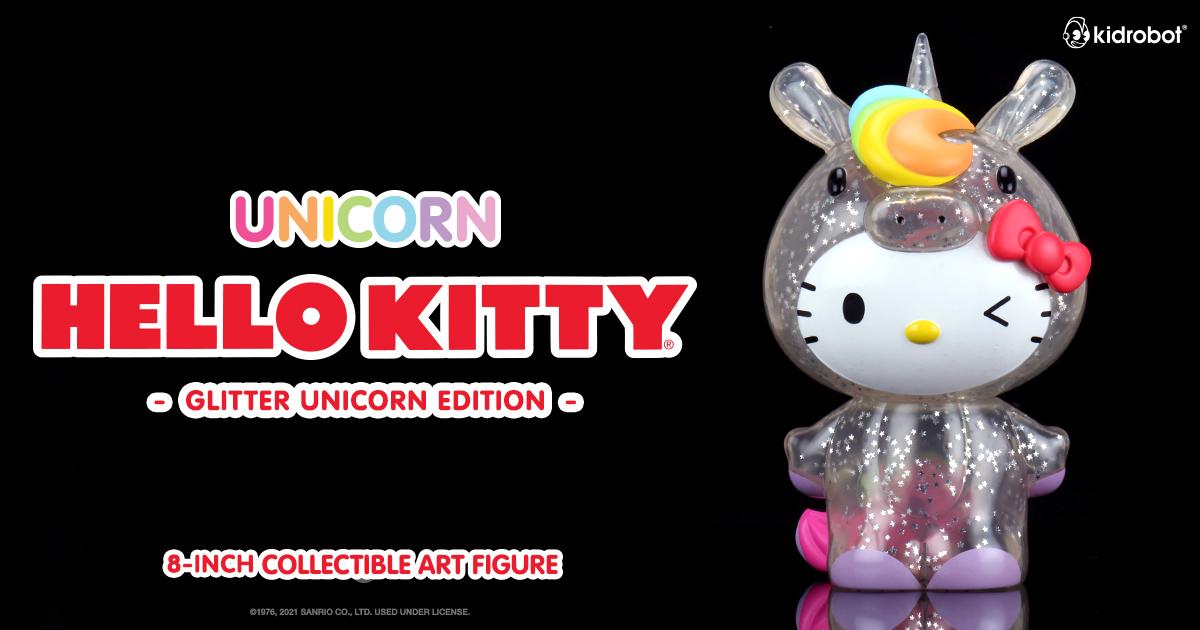 "Hello Kitty Unicorn 8"" Art Figure - Kidrobot.com Exclusive Glitter Edition"