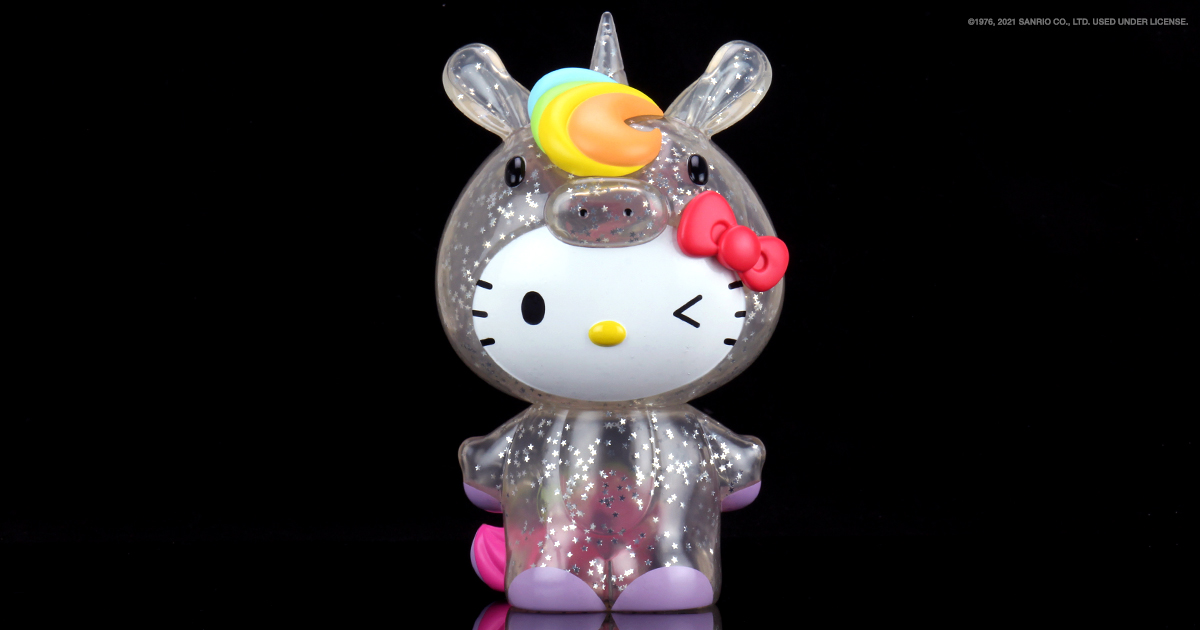 Hello Kitty Unicorn 8″ Art Figure Glitter Edition Gallops to Kidrobot.com