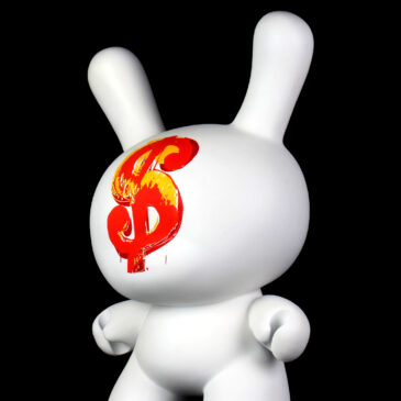 $$$ – Andy Warhol 20″ Dollar Sign 1982 Dunny Sculpture Drop on Kidrobot.com