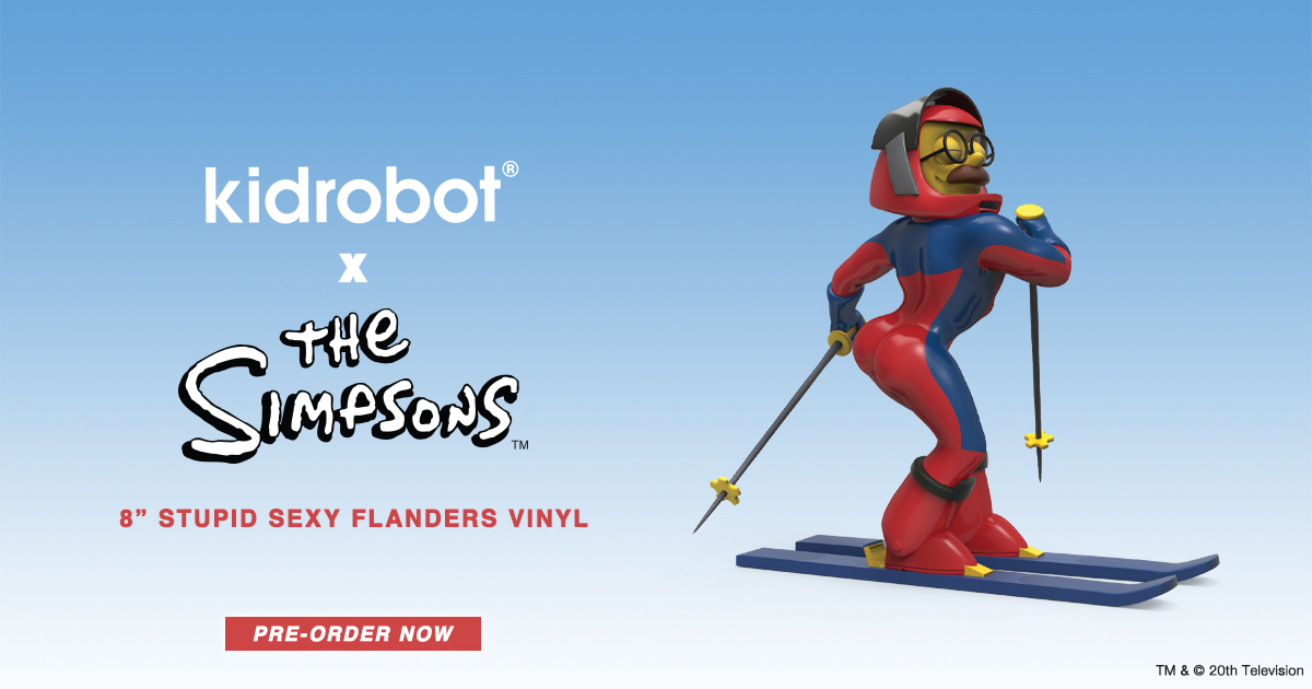 "Kidrobot x The Simpsons Stupid Sexy Flanders 8"" Vinyl Figure"