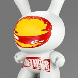 Kidrobot Andy Warhol Hamburger Dunny